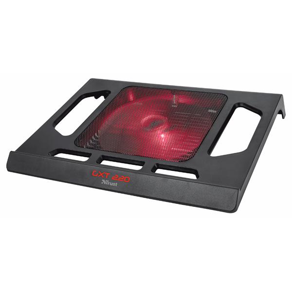 Подставка для ноутбука TrustПодставки к ноутбукам<br>Высота: 49 мм,<br>Ширина: 350 мм,<br>Охлаждающий вентилятор: Да,<br>Глубина: 239 мм,<br>Кол-во вентиляторов: 1,<br>Подсветка вентилятора: Да,<br>Цвет: черный,<br>Прорезиненные ножки: Да,<br>Питание от USB порта: Да,<br>Для моделей с диаг. экрана: до 17,<br>Серия: GTX,<br>Кабель USB: в комплекте,<br>Цвет подсвет. вентилятора: красный,<br>Длина кабеля USB: 0.5 м,<br>Материал корпуса: пластик/ алюминий,<br>Отсек для кабеля: Да,<br>Интерфейс связи с ПК: USB 2.0,<br>Вес: 0.48 кг,<br>Уровень шума: 20 дБ,<br>Вид гарантии: по чеку,<br>Страна: КНР<br><br>Вес кг: 0.48<br>Ширина мм: 350<br>Глубина мм: 239<br>Высота мм: 49<br>Цвет : черный