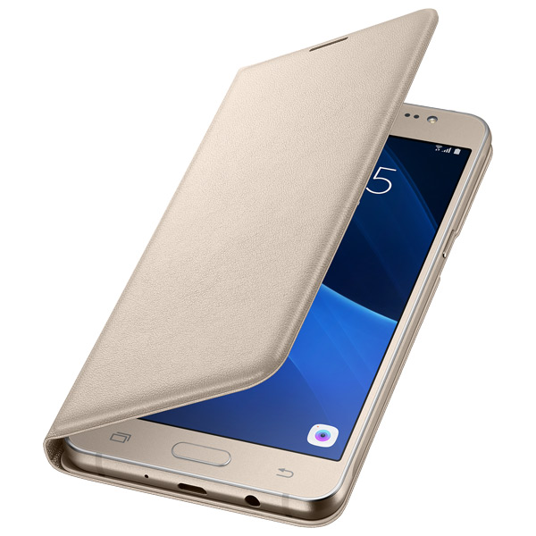 Samsung, Чехол для сотового телефона, Flip Wallet J5 Gold (EF-WJ510PFEGRU)
