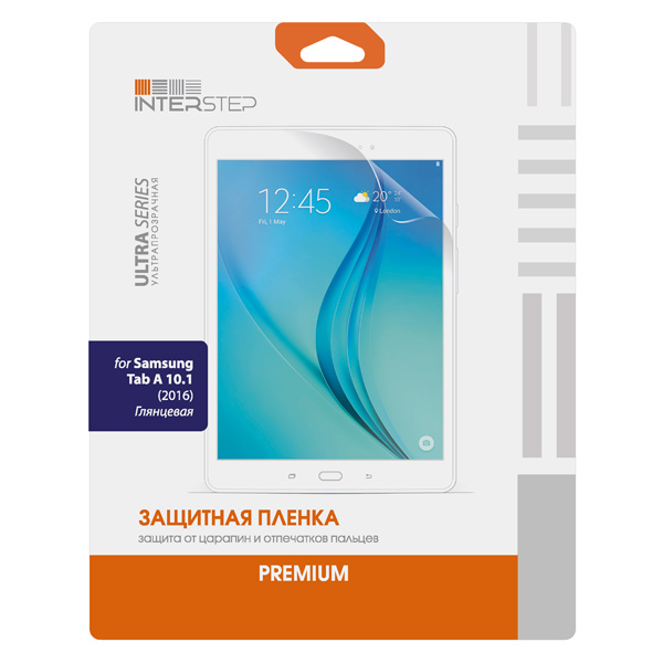 Плёнка для планшетного компьютера InterStep для Samsung Tab A 10.1 (IS-SF-SAGTABA10-000B201) защитные стекла и пленки interstep is sf 7unokictr 000b201
