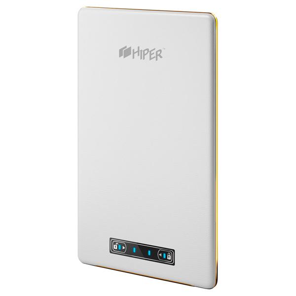 Внешний аккумулятор HIPERВнешние аккумуляторы<br>Порт USB 2.0 тип A: 2,<br>Страна: КНР,<br>Емкость аккумулятора: 15000 мАч,<br>Серия: XP,<br>Тип кабеля: USB 2.0 тип A - microUSB 2.0,<br>Вес: 324 г,<br>Настольное размещение: Да,<br>Максимальная нагрузка (мА): 3000,<br>Цвет: белый,<br>Индикация включения: Да,<br>Габаритные размеры (В*Ш*Г): 184*110*10 мм,<br>Индикация заряда аккумулятора: Да,<br>Вид гарантии: по чеку,<br>Рабочее напряжение: 5.0 В,<br>Материал корпуса: пластик,<br>Конструкция аккумулятора: встроенный,<br>Индикатор уровня зарядки: Да,<br>Тип аккумулятора: Li-Polymer<br><br>Вес г: 324<br>Цвет : белый