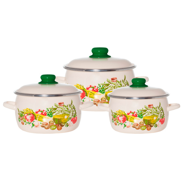 Набор посуды (эмаль) Vitross