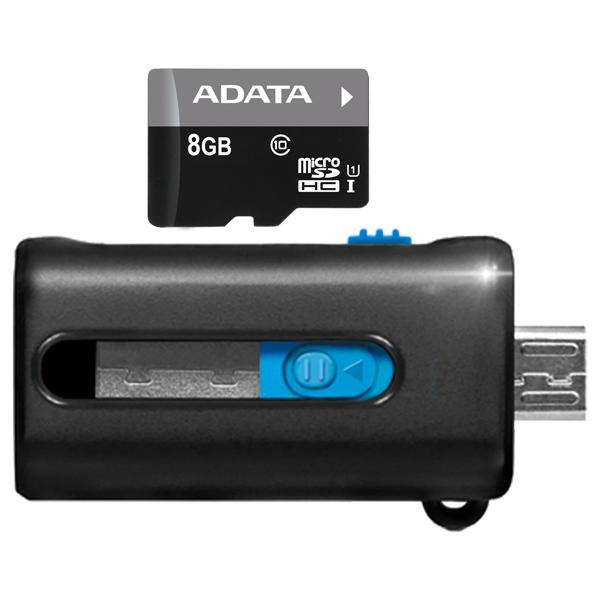 Карта памяти SDHC Micro ADATAКарты памяти MicroSDHC<br>Цвет: черный/ серый,<br>Макс. скорость передачи данных: 30 Мб/сек,<br>Интерфейс шины данных: UHS-I Class 1,<br>Назначение: проф. фото/видео Full HD,<br>Серия: Premier,<br>Страна: КНР,<br>Вид гарантии: по чеку,<br>Класс: 10,<br>Объем карты памяти: 8 ГБ,<br>Тип карты памяти: microSDHC,<br>CardReader в комплекте: Да(OTG)<br><br>Цвет : черный/ серый