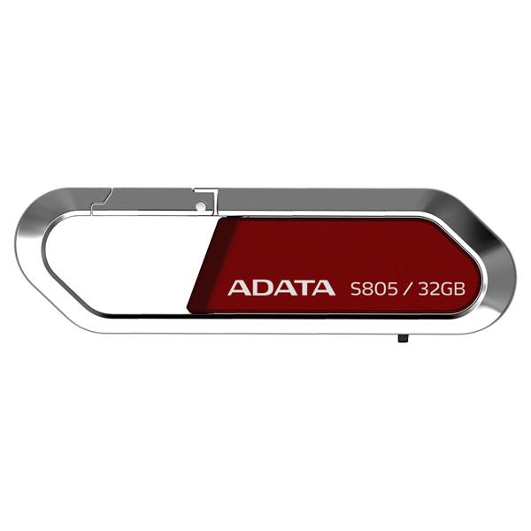 Флэш диск ADATAФлешки<br>Выдвижной разъем USB: Да,<br>Габаритные размеры (В*Ш*Г): 19*61.7*9.3 мм,<br>Встроенная память (ROM): 32 ГБ,<br>Серия: Sport S805,<br>Макс. скорость чтения: 15 МБ/сек,<br>Материал корпуса: металл/ пластик,<br>Интерфейс связи с ПК: USB 2.0,<br>Цвет: красный,<br>Макс. скорость записи: 5 МБ/сек,<br>Кабель USB 2.0: доп.опция,<br>Вид гарантии: по чеку,<br>Водоустойчивый корпус: Да,<br>Вес: 25 г,<br>Страна: Тайвань<br><br>Вес г: 25<br>Цвет : красный