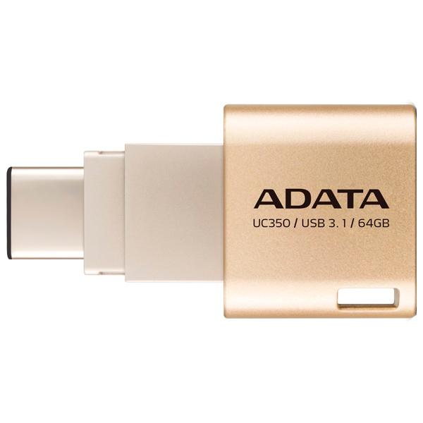 Флеш-диск Type C ADATA Choice UC350 Gold 64GB (AUC350-64G-CGD)
