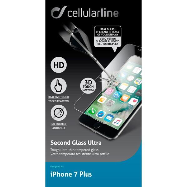 Защитное стекло для iPhone Cellular Line