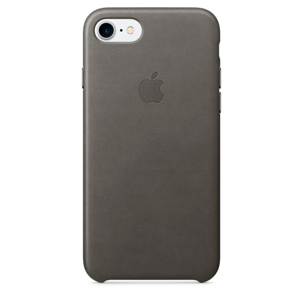 где купить  Кейс для iPhone Apple iPhone 7 Leather Case Storm Gray (MMY12ZM/A)  дешево