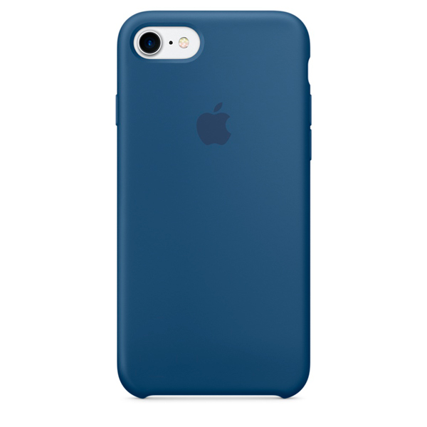 Кейс для iPhone Apple iPhone 7 Silicone Case Ocean Blue (MMWW2ZM/A) автомагнитола kenwood kmm 103ry usb mp3 fm rds 1din 4х50вт черный