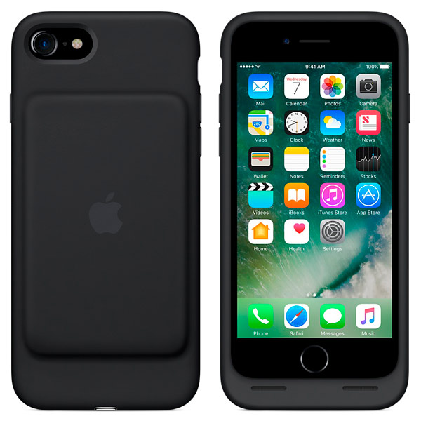 Чехол-аккумулятор Apple iPhone 7 Smart Battery Case Black (MN002ZM/A)