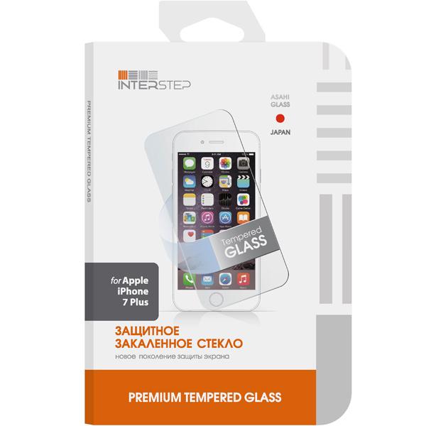 Защитное стекло для iPhone InterStep для iPhone 7 Plus (IS-TG-IPHON7PLS-000B201) защитные стекла и пленки interstep is sf 7usgalctr 000b201