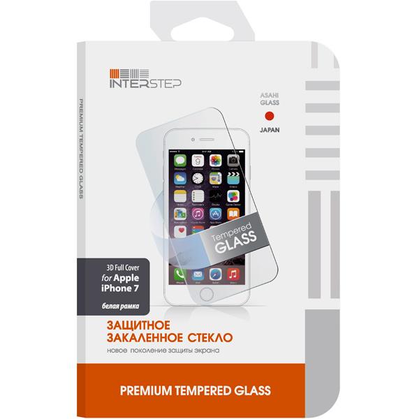 InterStep, Защитное стекло для iphone, для iPhone 7,3D, белое (IS-TG-IPHO73DWH-000B201)