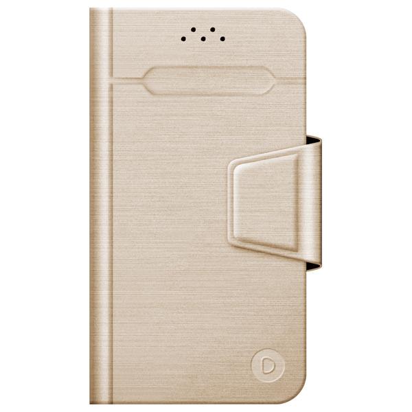Универсальный чехол для смартфона Deppa Wallet Fold M 4.3\'\'-5.5\'\' Gold