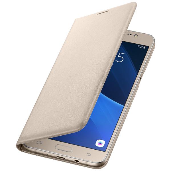 Чехол для сотового телефона Samsung Flip Wallet J7 (2016) Gold органайзер с подвеской hausmann 4p 303