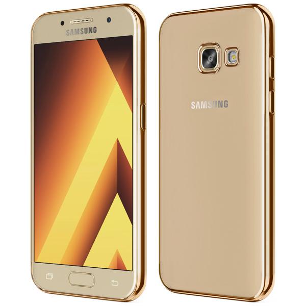 Чехол для сотового телефона Takeit для Samsung Galaxy A3 2017, Metal Slim Gold