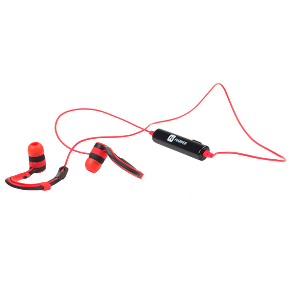 Спортивные наушники Bluetooth Harper HB-109 Red