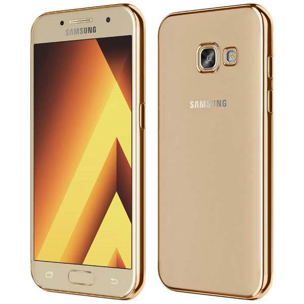 Чехол для сотового телефона Takeit для Samsung Galaxy A7 2017, Metal Slim Gold samsung galaxy a7 2016 sm a710fzddser gold