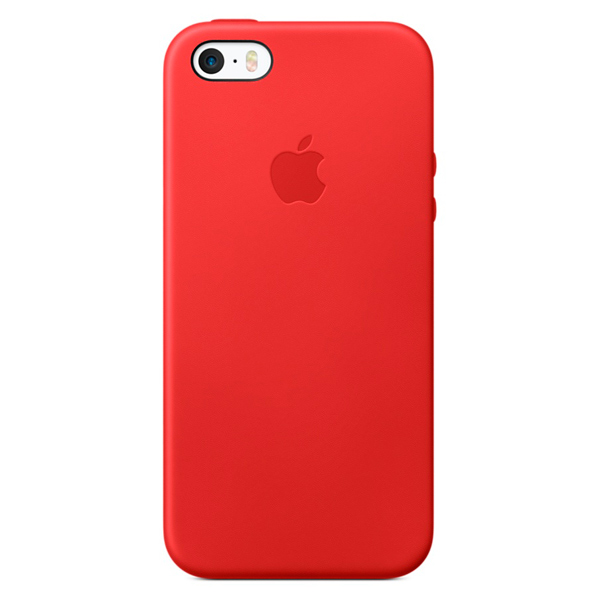 Кейс для iPhone Apple iPhone SE Leather Case Red