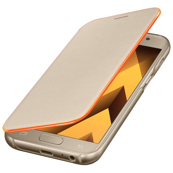 Чехол для сотового телефона Samsung A3 2017 Neon Flip Cover Gold