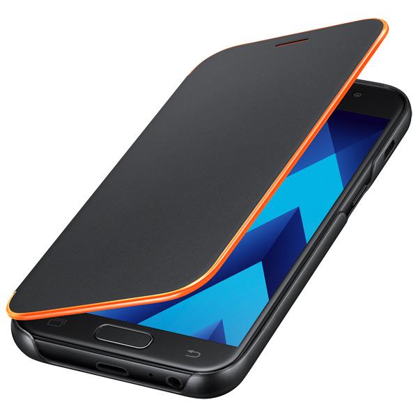 Samsung A3 2017 Neon Flip Cover Black