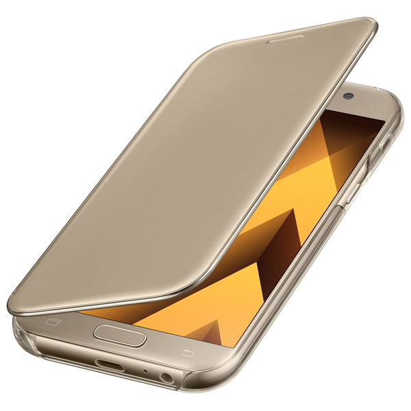 Samsung A5 2017 Clear View Cover Gold