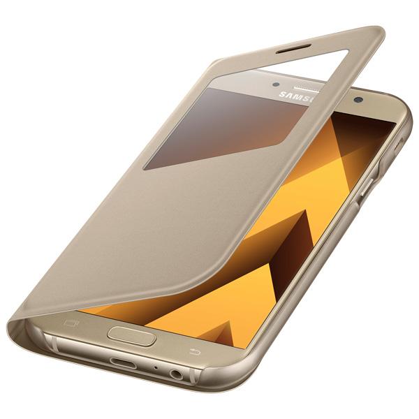 Чехол для сотового телефона Samsung A7 2017 S View Standing Cover Gold