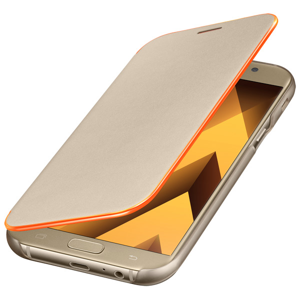 Чехол для сотового телефона Samsung A7 2017 Neon Flip Cover Gold