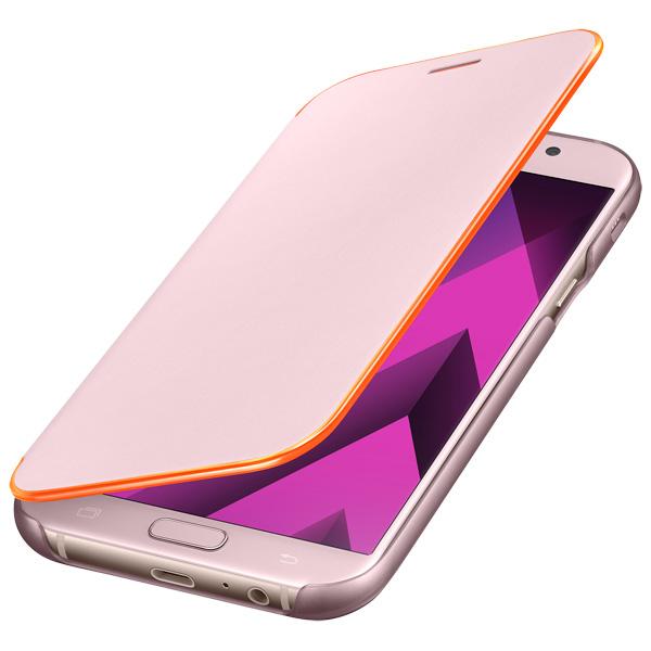 Чехол для сотового телефона Samsung A7 2017 Neon Flip Cover Pink