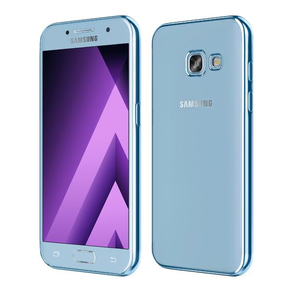 Чехол для сотового телефона Takeit для Samsung Galaxy A7 (2017), Metal Slim Blue чехол для сотового телефона takeit для samsung galaxy a3 2017 slim прозрачный