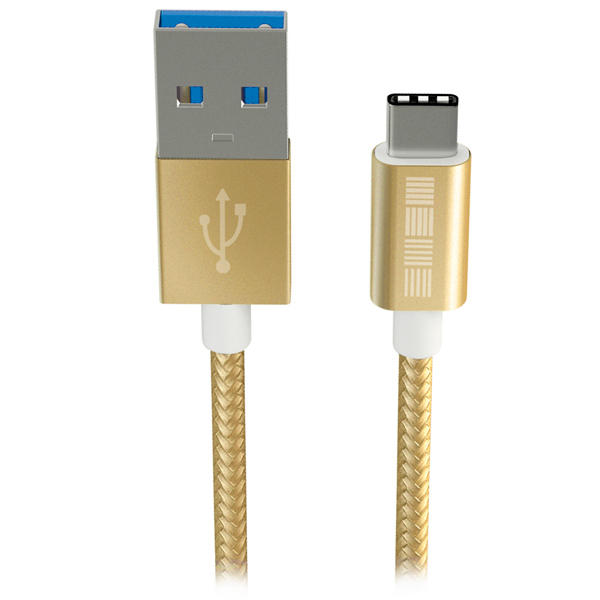 Кабель USB Type-C InterStep USB 3.0 Neylon Gold 1m (IS-DC-TYPCUSBNG-000B210)