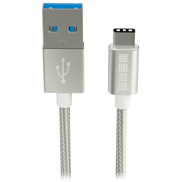 Кабель USB Type-C InterStep USB 3.0 Neylon Silver 1m (IS-DC-TYPCUSBNS-000B210