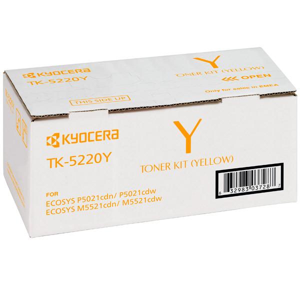 Картридж для лазерного принтера Kyocera TK-5220Y картридж для лазерного принтера kyocera tk 895m