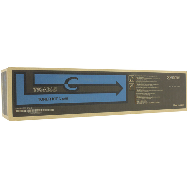 Картридж для лазерного принтера Kyocera TK-8305C картридж для лазерного принтера kyocera tk 895m