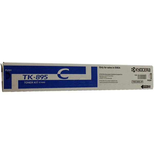 Картридж для лазерного принтера Kyocera TK-895C картридж для лазерного принтера kyocera tk 895m
