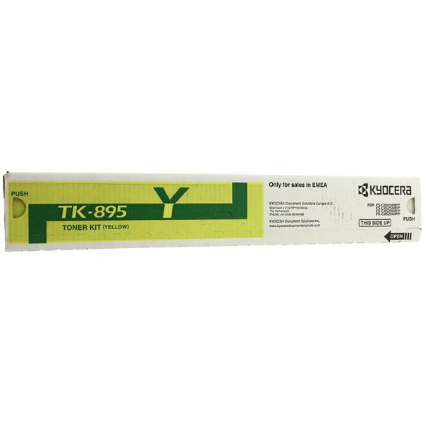 Картридж для лазерного принтера Kyocera TK-895Y картридж для лазерного принтера kyocera tk 895m