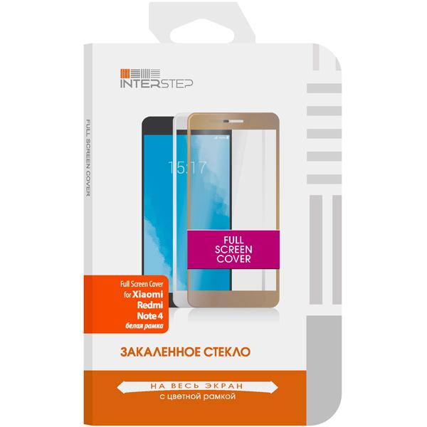 Защитное стекло InterStep Full Screen для Xiaomi Redmi Note 4 White  caseguru для xiaomi redmi note 4 full screen white