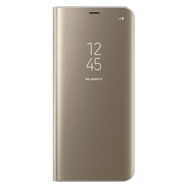 Чехол для сотового телефона Samsung S8+ Clear View Standing Gold (EF-ZG955CFEGRU) чехол для смартфона samsung galaxy s8 золотистый ef zg955cfegru ef zg955cfegru