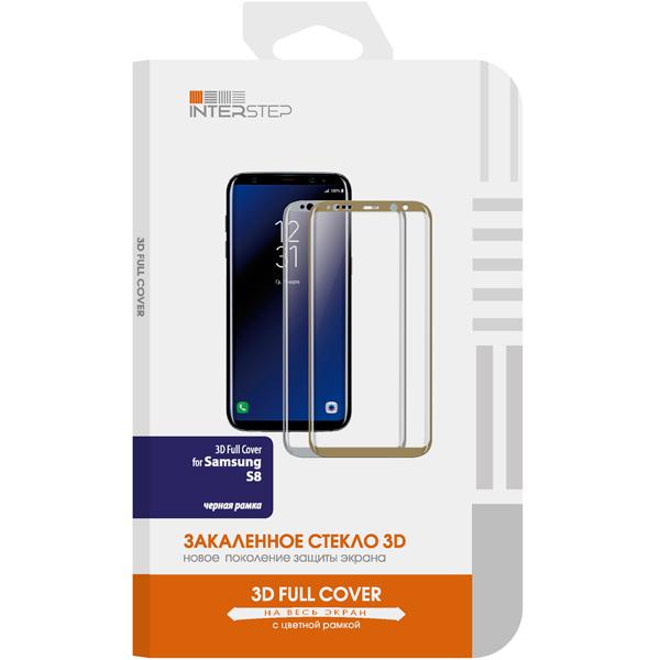 Защитное стекло InterStep 3D Full Cover для Samsung Galaxy S8 Black interstep folk case для samsung galaxy s8 black