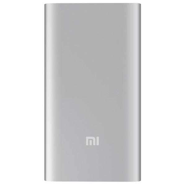 Внешний аккумулятор Xiaomi Mi Power Bank (5000 мАч) серебристый бесплатная доставка usb зарядки зарядка для док порт разъем разъем запасная часть для lg optimus 3d p920