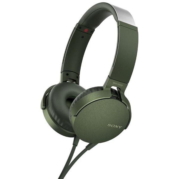 Наушники накладные Sony XB550AP Extra Bass Green (MDRXB550APGC(Е))