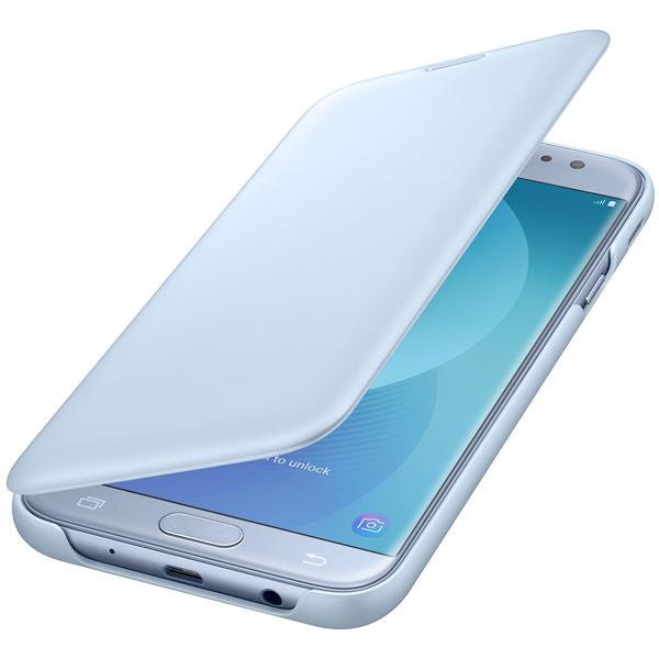 Чехол для сотового телефона Samsung Galaxy J7 (2017) Wallet Blue (EF-WJ730CLEGRU) чехол для сотового телефона takeit для samsung galaxy a3 2017 metal slim металлик