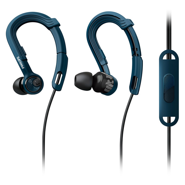Спортивные наушники Philips ActionFit NoLimits Blue (SHQ3405BL/00)