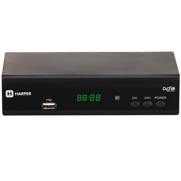 Приемник телевизионный DVB-T2 Harper HDT2-2010