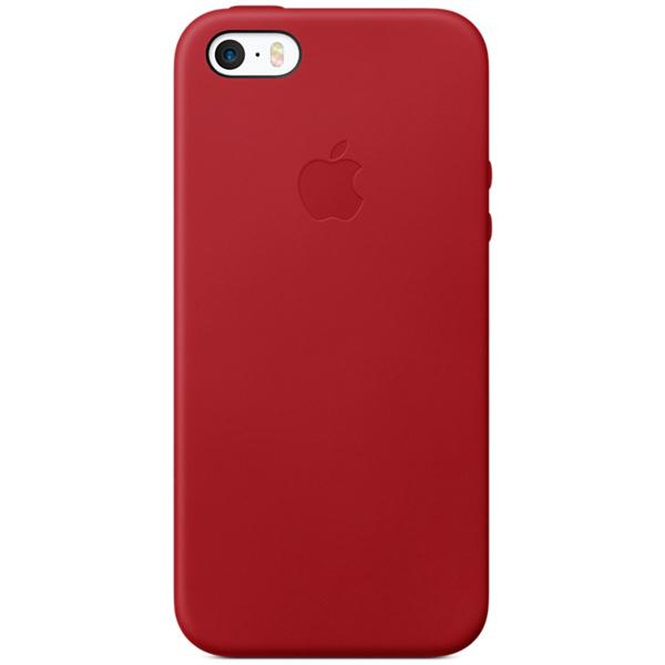 Кейс для iPhone Apple iPhone SE Leather Case (PRODUCT)RED (MR622ZM/A) apple leather case black для iphone se mmhh2zm a