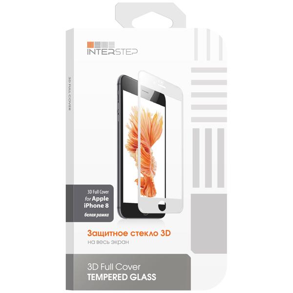 Защитное стекло для iPhone InterStep для iPhone 8 (IS-TG-IPHO83DWH-000B201) защитные стекла и пленки interstep is sf 7usgalctr 000b201