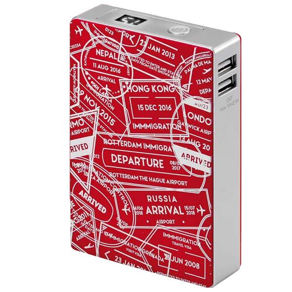 Внешний аккумулятор InterStep Travel 2USB/2A+1A Display 10400 mAh Red 2017 coffee new brand men wallet leather pouch dollar designs with card holder bag short wallets money carteira feminina c056