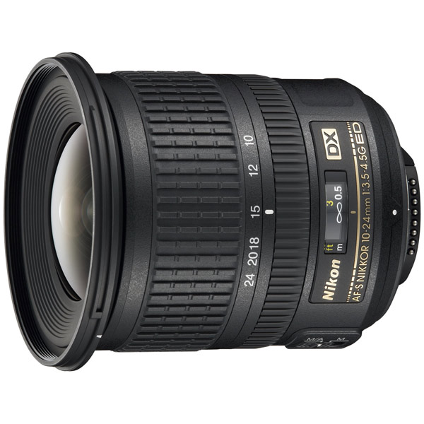 Объектив Nikon AF-S DX NIKKOR 10-24mm f/3.5-4.5G черного цвета