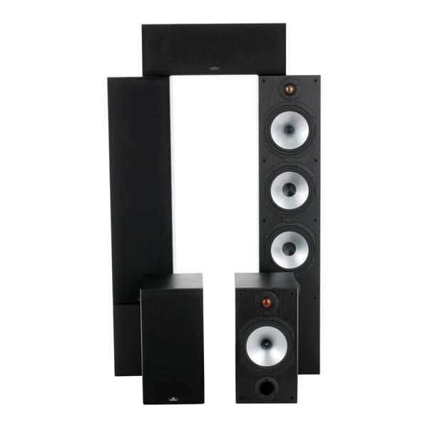 Monitor Audio, Комплект акустических систем, Monitor Reference 5.0 System Black Oak