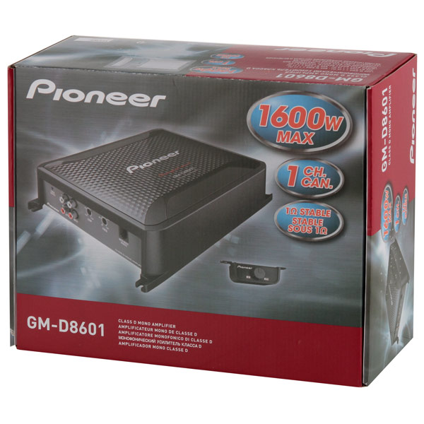 Автомобильный усилитель (1 канал) Pioneer GM-D8601 - фото 4