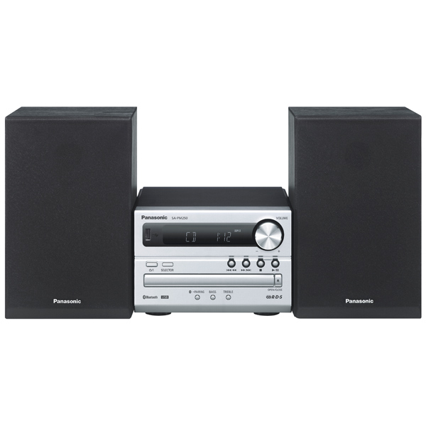 Музыкальный центр Micro Panasonic SC-PM250EE-S apple портативная колонка panasonic sc hc49gk s hifi cd