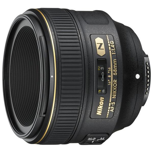 Объектив Nikon AF-S NIKKOR 58mm f/1.4G nikon nikon af s nikkor 28mm f 1 8g фиксированный фокус широкоугольный объектив