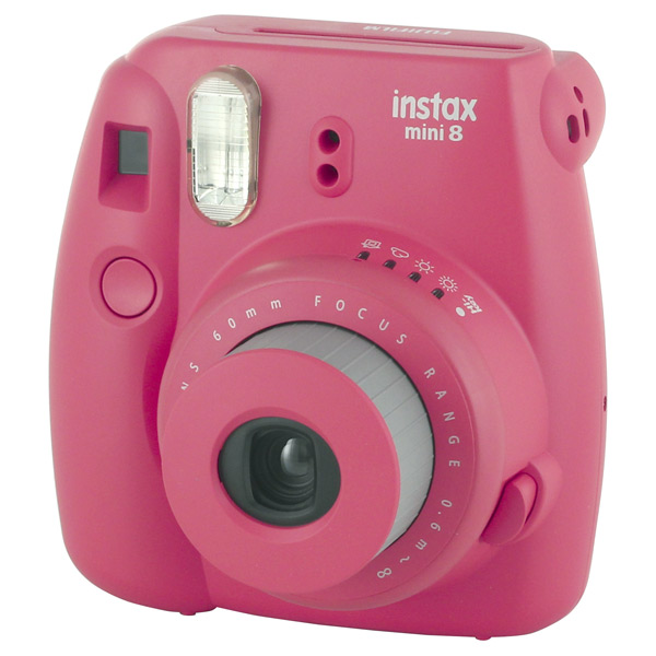 Фотоаппарат моментальной печати Fujifilm Instax Mini 8 Raspberry сумка fujifilm для instax mini 8 case raspberry